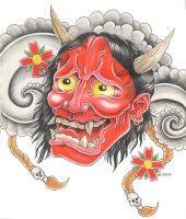 Japanes Hannya Mask- ver 2 by bsguru