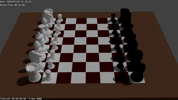 3D chess set by austin-belton