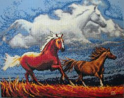 Cross Stitch: Horse by stormwhisper02
