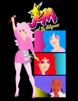 Jem and The Holograms - T-Shirt design by MannyHernan