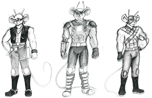 Biker Mice From Mars sketch 2 by CandySkitty