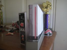Retro wii papercraft by LegoMyFoot