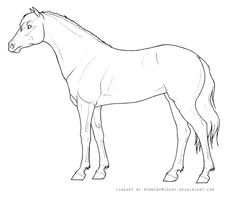 Mare Lineart by Hymnsie
