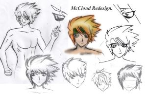 McCloud Hair and Face Redesign by Nesasta