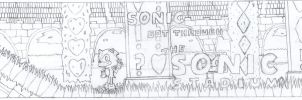 Sonic in The Sonic Stadium - Outline by Yeow95