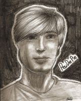 Pewdiepie pencil drawing by purple-panda64