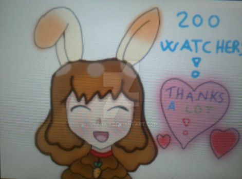 200 watchers thanks a lot to everyone by shana-1