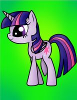 Princess Twilight Sparkle Side View by Kittygirl12345678
