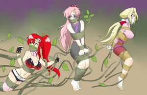 Commission: Yoko, Lacus, Fiona by jam-orbital
