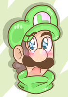 Luigi Cute Headshot~ by TheCookieLuigiArtist