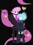 Ghost Lewis X Ghost Vivi by ninnymuffin
