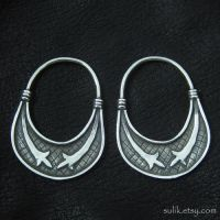 Silver temple rings from medieval Slovenia by Strzygon