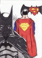 supes and bats are gangstas by boricuanart