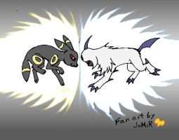 Umbreon vrs Absol by Jomir