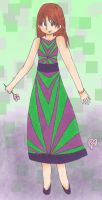 Dress Design - Green and Purple by AquaDewRose