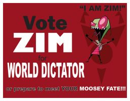 Vote Zim 4 World Dictator RED by CaptainVendetta