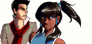 Korra and Mako by fluffy-fuzzy-ears
