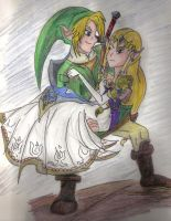 Link and Zelda by titanstargirl