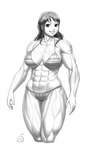 Comm - muscly Nami (apng) by Sentrythe2310