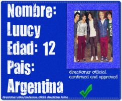 Credencial Directioner Luucy D BieberGomez by celestebs