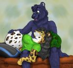 Father-Cub Bonding by geckoguy123456789