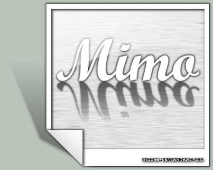MiMo - metal photo logo v2 by MiMo86