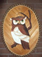My Mothers Art - Wooden Owl by Drake09