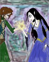 Luthien and Beren-The Silmaril by queenfire