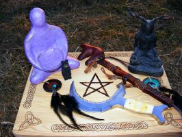 Solstice Altar by WoodWose