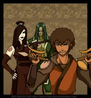 Avatar: Jet, June and Xin Fu by Lord-Of-The-Guns