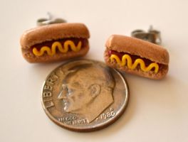 Hotdog Earrings by yobanda