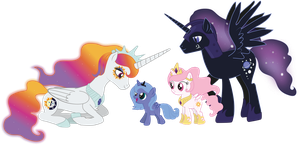 The Royal Alicorn Family by raggyrabbit94