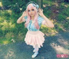 Idol Super Sonico cosplay by me by kawaiilullaby