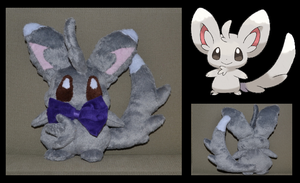 Pokemon Minccino Plush by Mlggirl
