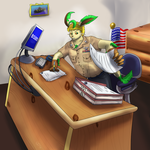 The Yeoman Leafeon by MythTrainerInfinity