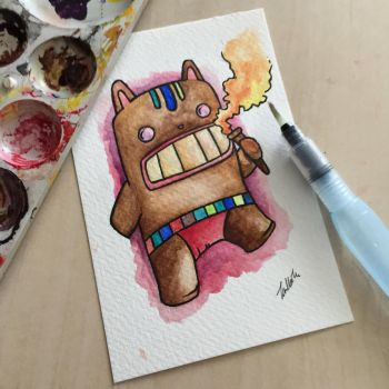 Watercolour Cat Totem by tHj1996