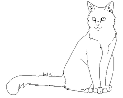 FREE Cat Lineart!!!!! by Wyeth-Kitty