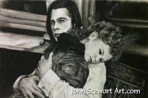 Interview with A Vampire charcoal for sale by johnstewartart