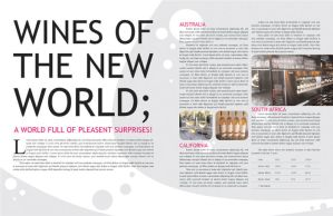 Wine Magazine Layout Design by SmileNaked