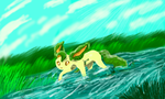 A Wetland Leafeon by Deepluver2