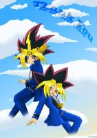 10 Years Yami and Yugi by TheSnowDrifter