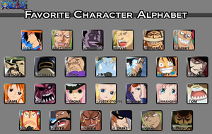 One Piece Favorite Character Alphabet by rubenimus21