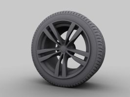 wheels with tire - clay by mucsiattila