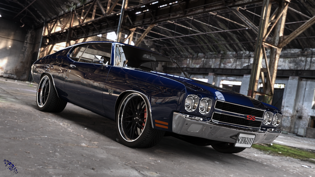Midnight Blue Chevelle by scifigiant
