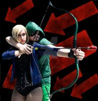 Green Arrow and Black Canary Issue one by spritepirate