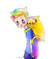 finn and jake by alaskano