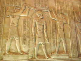 Kom Ombo wall carving - purification by Skarkdahn