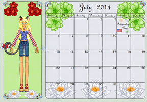 July Calendar Entry - Lilah by Oceanfairydust