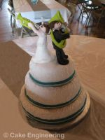 Sousa and Trumpet wedding cake by cake-engineering