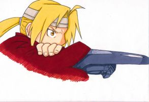 Edward Elric w/ Automail by full-metal-artiste